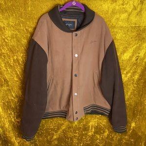 SeanJohn Wool Color Block Bomber Snap Jacket szXXL